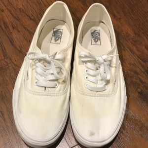 Authentic White Vans